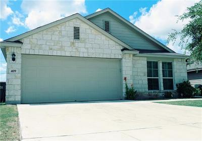 San Marcos Single Family Home For Sale: 409 Teron Dr