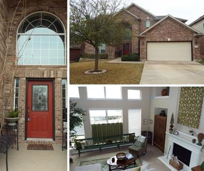 Round Rock Single Family Home For Sale: 1338 Red Stag Pl