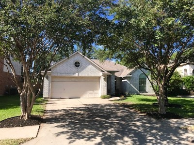 Cedar Park Single Family Home Pending - Taking Backups: 903 Woodridge Ln