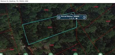 Bastrop Residential Lots & Land For Sale: TBD Wainee