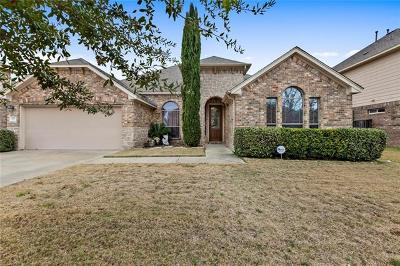 Round Rock Single Family Home For Sale: 125 Snowdrift Trl