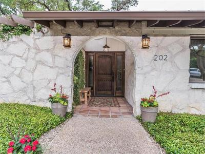 Austin Single Family Home For Sale: 202 Ridgewood Rd