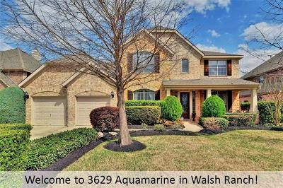 Round Rock Single Family Home Pending - Taking Backups: 3629 Aquamarine Dr
