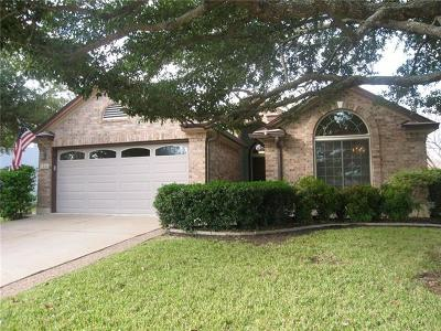 Round Rock Single Family Home For Sale: 1208 Wilderness Path