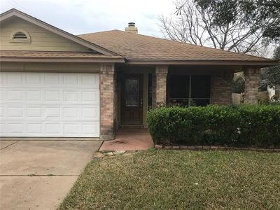 Pflugerville Single Family Home Pending - Taking Backups: 721 Black Isle Dr