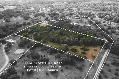 Driftwood Residential Lots & Land For Sale: 920 Elder Hill Rd