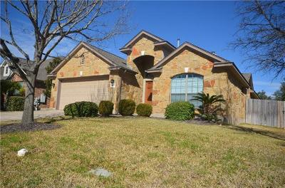 Cedar Park Single Family Home For Sale: 2601 Mancuso Bnd