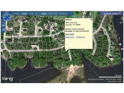 Lago Vista Residential Lots & Land For Sale: 2600 Cody Ave