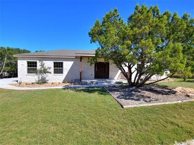 Lago Vista Single Family Home Active Contingent: 3709 Rock Terrace Dr