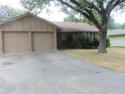 Austin Single Family Home Active Contingent: 10701 Berthound Dr