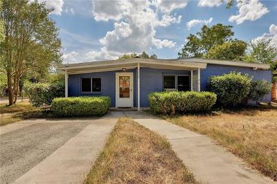 Austin Single Family Home For Sale: 7525 Delafield Ln #A