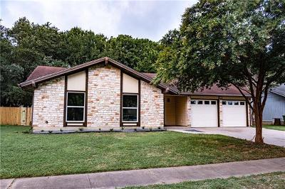 Round Rock Single Family Home For Sale: 3703 Monument Dr