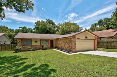 Hays County, Travis County, Williamson County Single Family Home Pending - Taking Backups: 8401 Alabama Dr