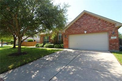 Round Rock Single Family Home For Sale: 3104 Pointe Pl