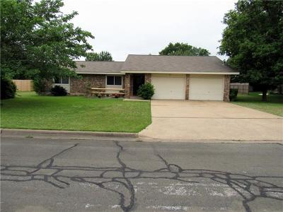 Cedar Park Single Family Home Active Contingent: 201 Parkway Dr