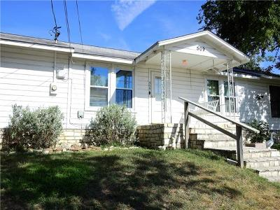 Burnet County Single Family Home For Sale: 509 Avenue F