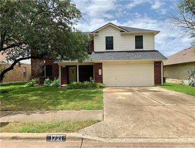 Cedar Park Single Family Home For Sale: 1721 Warwick Way