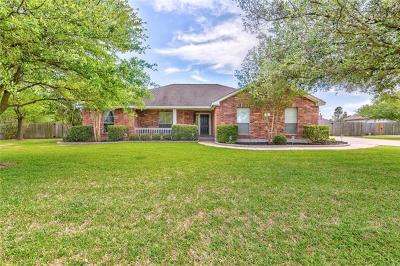 Hutto Single Family Home Pending - Taking Backups: 110 Guadalupe Dr