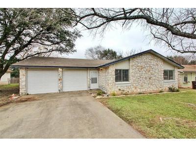 Round Rock Single Family Home Pending - Taking Backups: 4008 Stoney Hl