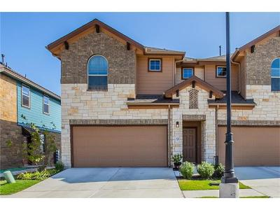 Round Rock Condo/Townhouse For Sale: 1001 Zodiac Ln #9