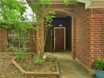Pflugerville Single Family Home For Sale: 805 Setting Sun Ct