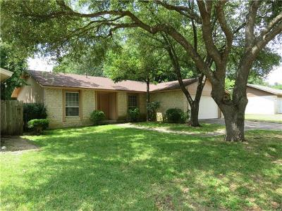 Williamson County Single Family Home Pending - Taking Backups: 12103 Old Stage Trl
