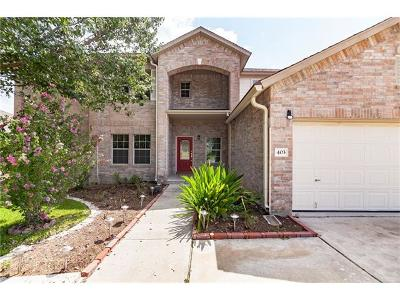 Pflugerville Single Family Home For Sale: 403 Red Tailed Hawk Dr