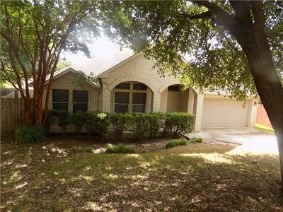 Round Rock Single Family Home For Sale: 3629 Hawk Ridge St