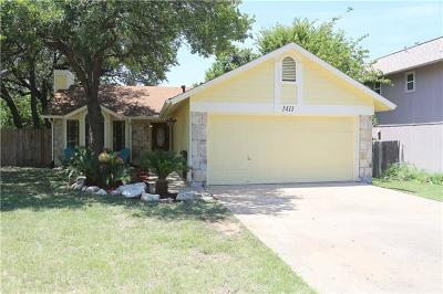 Cedar Park Single Family Home For Sale: 1411 Piney Creek Ln
