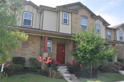 Round Rock Condo/Townhouse For Sale: 508 Lookout Tree Ln