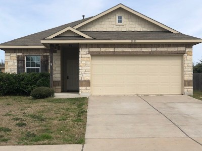 Hutto Single Family Home Pending - Taking Backups: 1208 Montell Ln