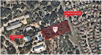 Leander Residential Lots & Land Pending - Taking Backups: 1201 Horizon Park Blvd
