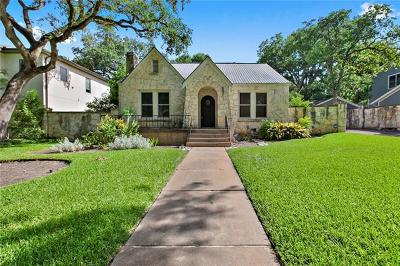 Austin Single Family Home For Sale: 3000 Bonnie Rd