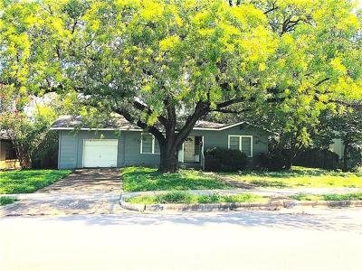 Travis County Single Family Home For Sale: 5019 W Frances Pl