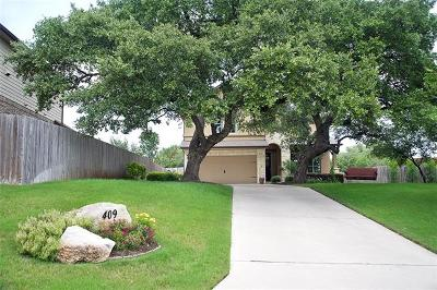 Round Rock Single Family Home For Sale: 409 Entrada Way