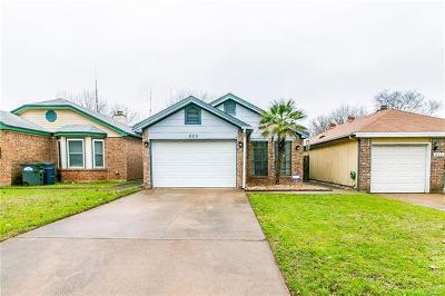 Leander Single Family Home For Sale: 829 Topaz Ln
