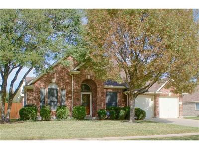Round Rock Single Family Home For Sale: 4018 Galena Hills Dr
