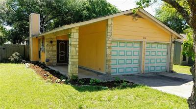 San Marcos Single Family Home For Sale: 1220 Conway Dr