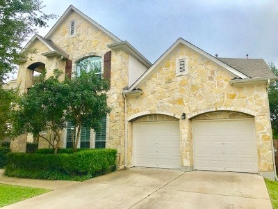 Cedar Park Single Family Home Active Contingent: 1323 Anna Ct