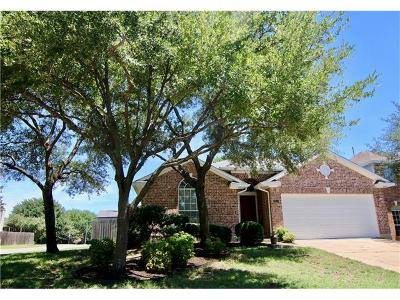 Round Rock Single Family Home For Sale: 2817 Pioneer Way