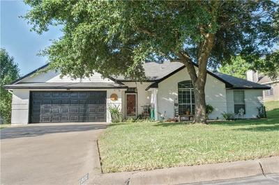 Harker Heights Single Family Home For Sale: 1512 Chardonnay Dr