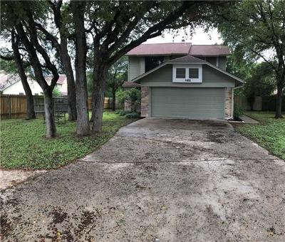 Cedar Park Single Family Home For Sale: 1102 Brookside Cv