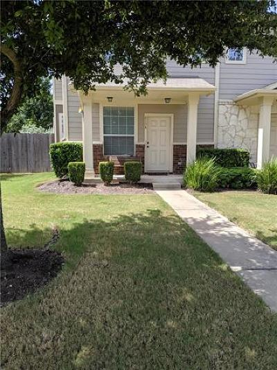 Pflugerville Condo/Townhouse For Sale: 813A Sebastian Bnd