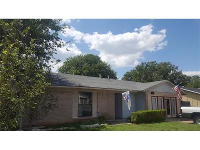 Round Rock Single Family Home For Sale: 1913 Heathwood Cir