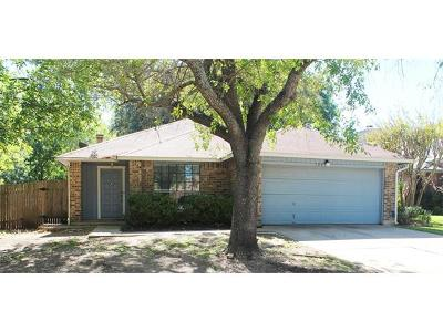 Round Rock Single Family Home For Sale: 709 Clearwater Trl