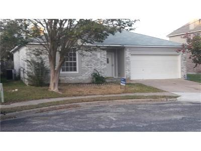 Pflugerville Single Family Home For Sale: 2006 Steeds Xing