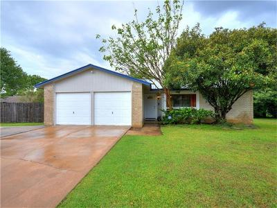 Round Rock Single Family Home Pending: 1504 Meadows Dr