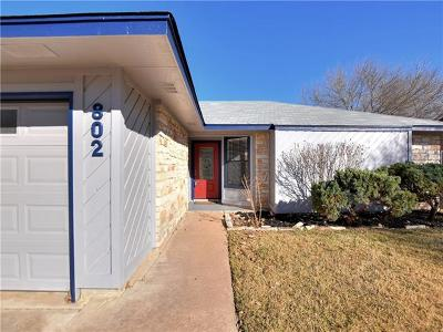 Round Rock Single Family Home For Sale: 802 Fieldstone Pl