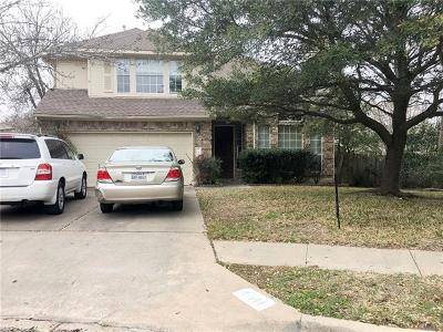 Pflugerville Single Family Home For Sale: 17804 Deren Cv