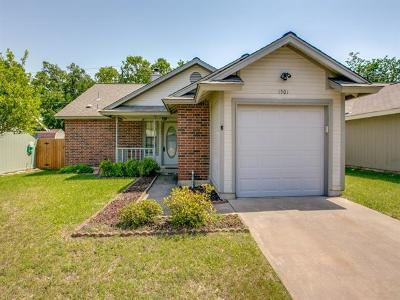 Round Rock Single Family Home For Sale: 1501 Peachtree Valley Dr